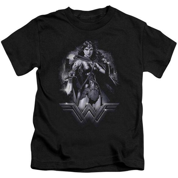 Batman Vs Superman Rainy Night Short Sleeve Juvenile T-Shirt