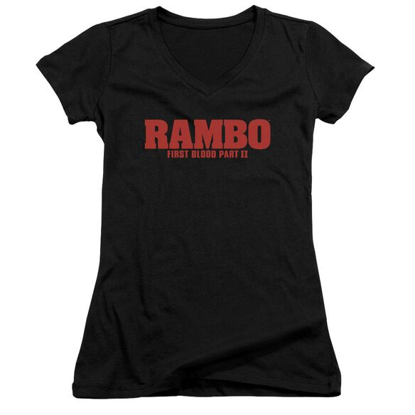 Rambo:First Blood Ii Logo Junior V Neck T-Shirt