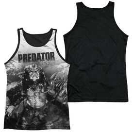 Predator In The Jungle Adult Poly Tank Top Black Back