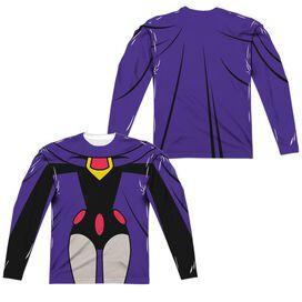 Teen Titans Go Raven Uniform (Front Back Print) Long Sleeve Adult Poly Crew T-Shirt