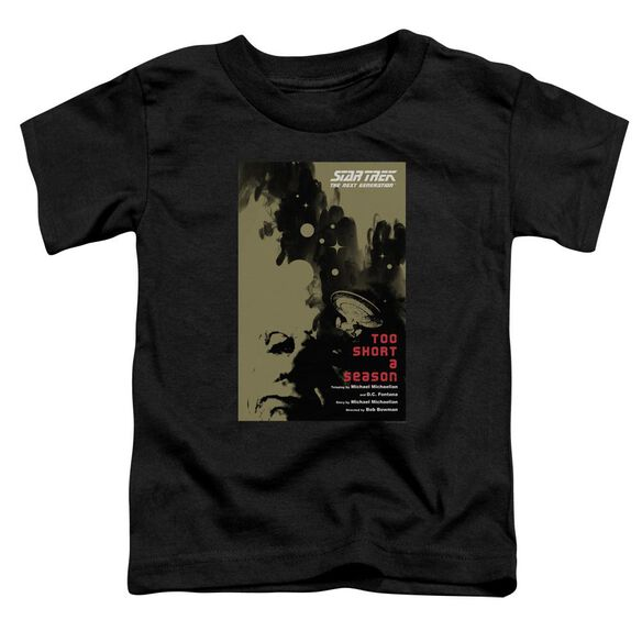 Star Trek Tng Season 1 Episode 16 Short Sleeve Toddler Tee Black Sm T-Shirt