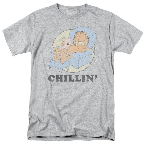 Garfield Chillin Short Sleeve Adult Athletic T-Shirt