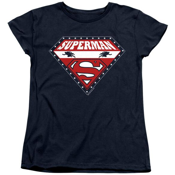 SUPERMAN SUPERMAN FOR PRESIDENT - S/S WOMENS TEE - NAVY T-Shirt