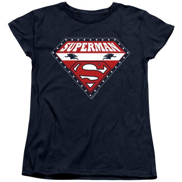 SUPERMAN SUPERMAN FOR PRESIDENT - S/S WOMENS TEE - NAVY T-Shirt