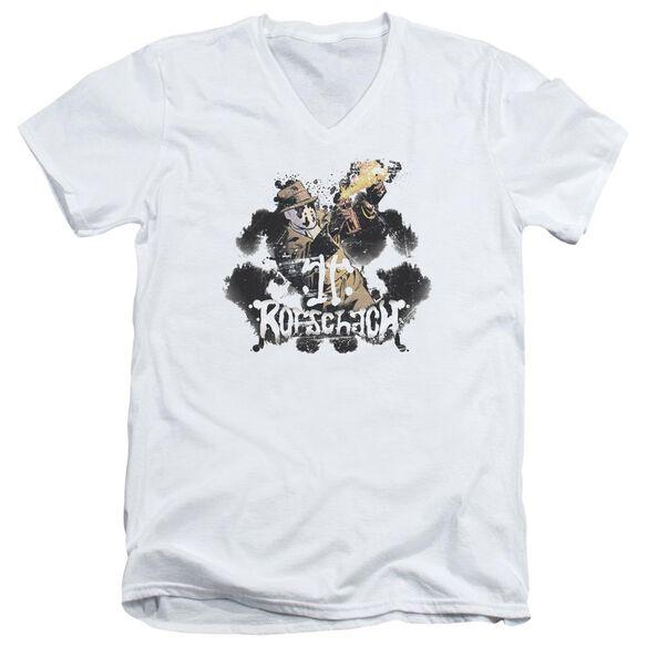 Watchmen Rorschach Short Sleeve Adult V Neck T-Shirt