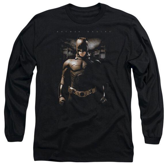 Batman Begins Gotham Bats Long Sleeve Adult T-Shirt