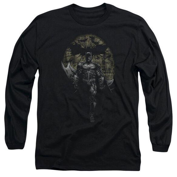 Dark Knight Rises Distressed Dark Knight Long Sleeve Adult T-Shirt