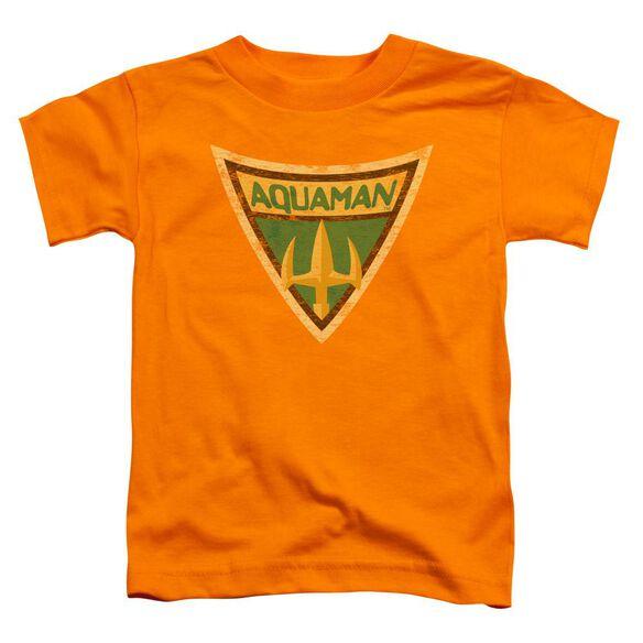 Batman Bb Aquaman Shield Short Sleeve Toddler Tee Orange Lg T-Shirt