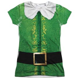 Elf Buddy Costume Short Sleeve Junior Poly Crew T-Shirt