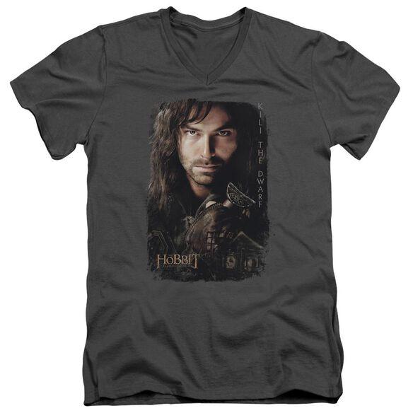 The Hobbit Kili Poster Short Sleeve Adult V Neck T-Shirt