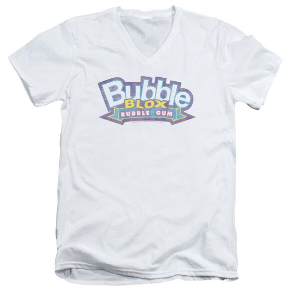 Dubble Bubble Bubble Blox Short Sleeve Adult V Neck T-Shirt