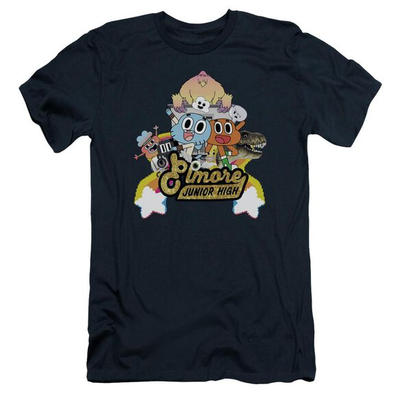 Amazing World Of Gumball Elmore Junior High Short Sleeve Adult T-Shirt