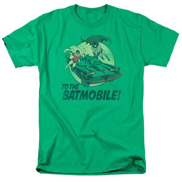 BATMAN CLASSIC TV TO THE BATMOBILE-S/S ADULT T-Shirt