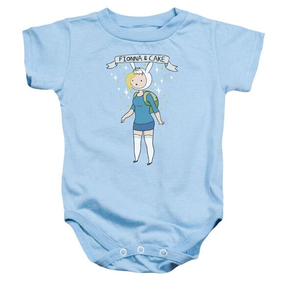 Adventure Time Fionna & Cake Infant Snapsuit Light Blue