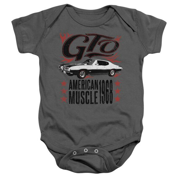 Pontiac Gto Flames Infant Snapsuit Charcoal