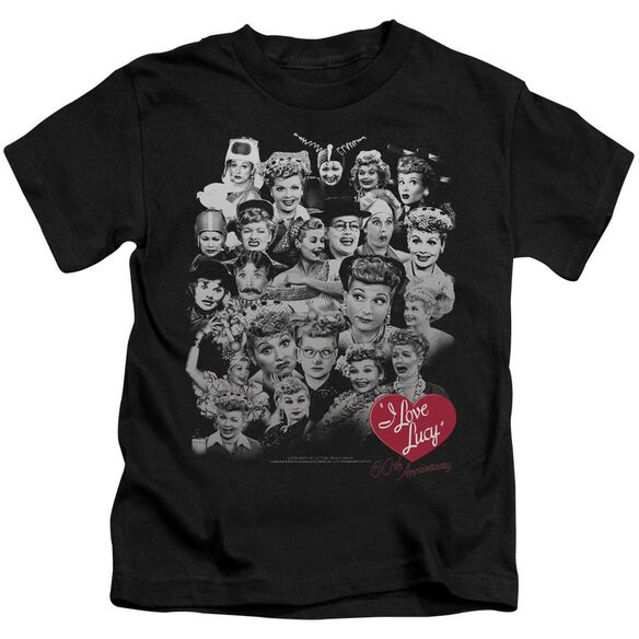 I Love Lucy 60 Years Of Fun Short Sleeve Juvenile Black T-Shirt