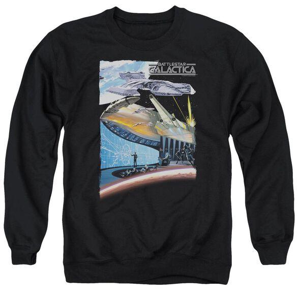 Bsg Concept Art Adult Crewneck Sweatshirt