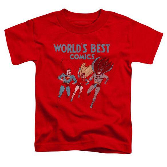 Jla Worlds Best Short Sleeve Toddler Tee Red Sm T-Shirt