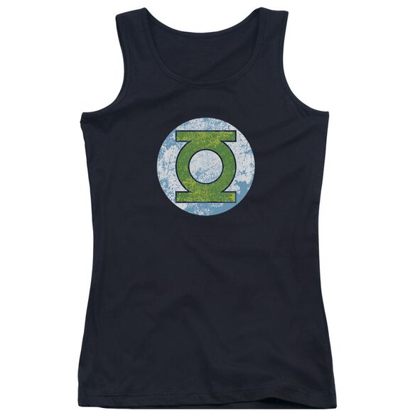 Dco Gl Neon Distress Logo - Juniors Tank Top - Black