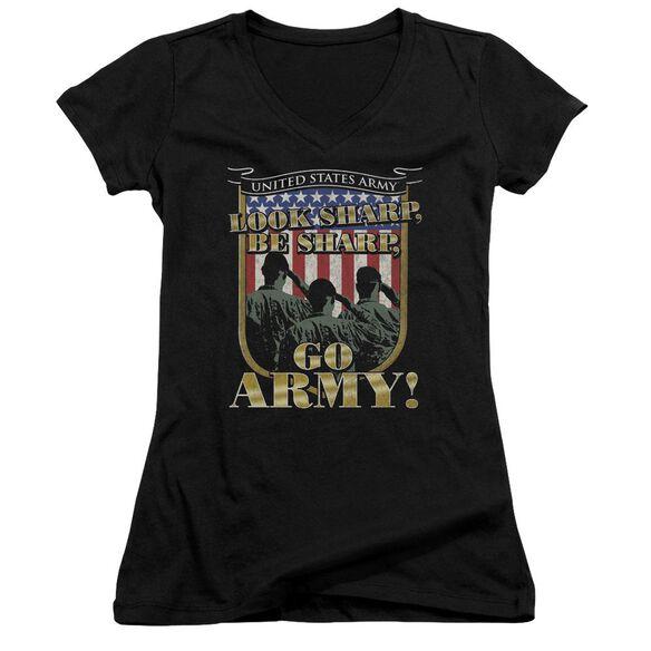 Army Go Army Junior V Neck T-Shirt