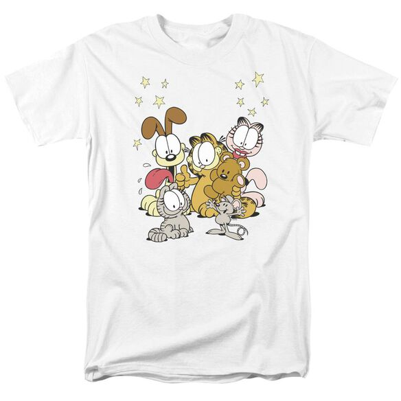 Garfield Friends Are Best Short Sleeve Adult White T-Shirt