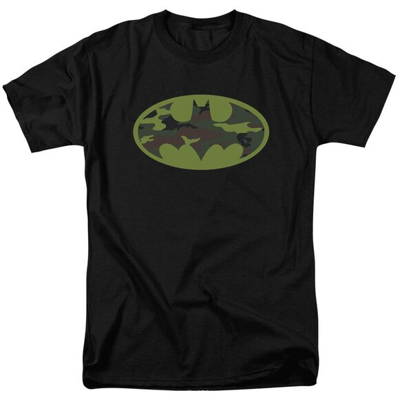Batman Camo Logo Short Sleeve Adult T-Shirt