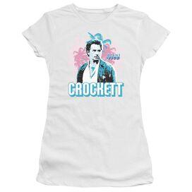 Miami Vice Crockett Short Sleeve Junior Sheer T-Shirt