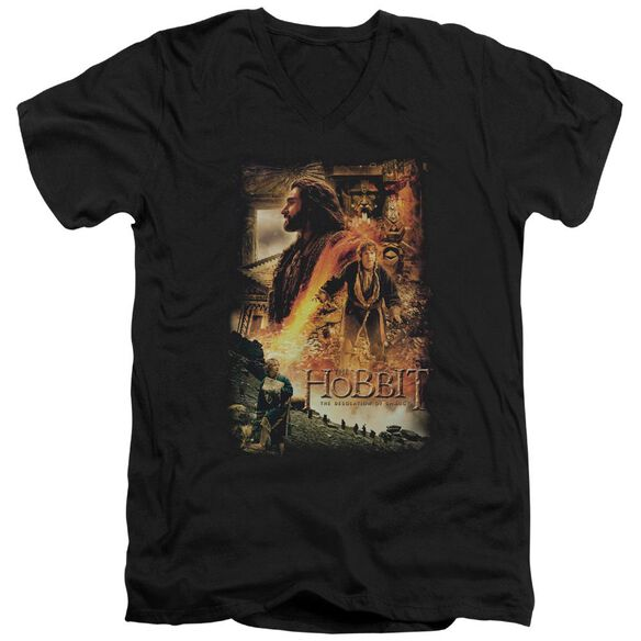 Hobbit Golden Chamber Short Sleeve Adult V Neck T-Shirt