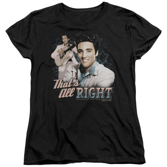 Elvis Presley Thats All Right Short Sleeve Womens Tee T-Shirt