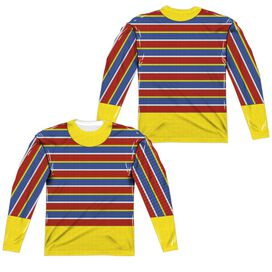 Sesame Street Ernie Costume (Front Back Print) Long Sleeve Adult Poly Crew T-Shirt