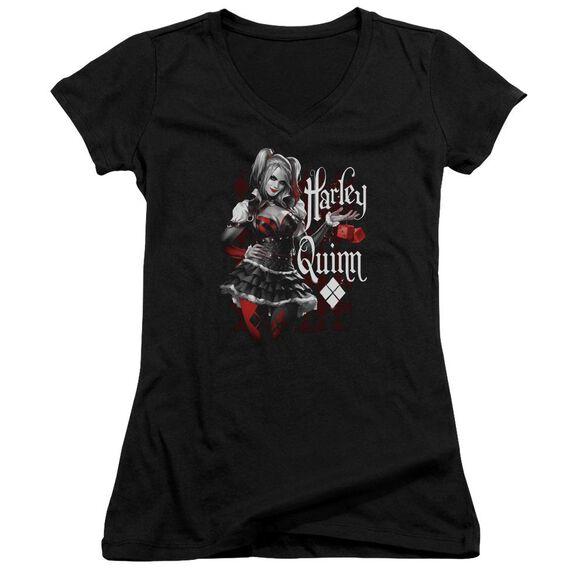 Batman Arkham Knight Dice Junior V Neck T-Shirt