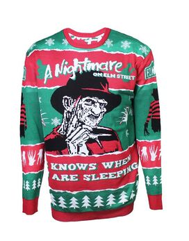 Nightmare on Elm Street Freddy Kruger Christmas Holiday Sweater