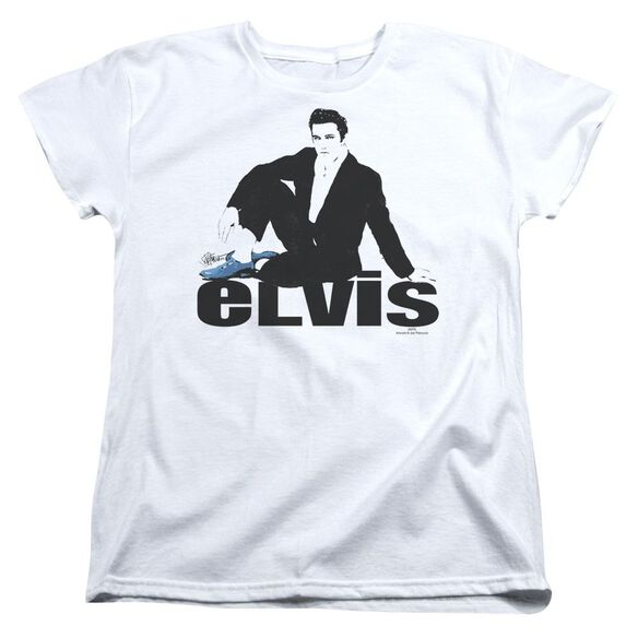Elvis Presley Blue Suede Short Sleeve Womens Tee T-Shirt