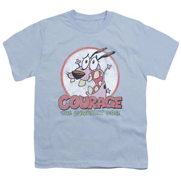 Courage The Cowardly Dog Vintage Courage Short Sleeve Youth Light T-Shirt