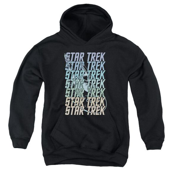 Star Trek Multi Logo Enterprise Youth Pull Over Hoodie