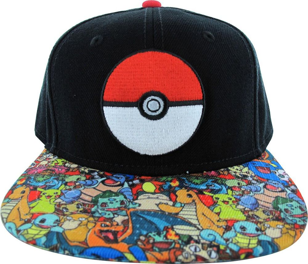 Pokemon Poke Ball Group Visor Hat  778b99028087