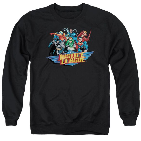 Jla Ready To Fight Adult Crewneck Sweatshirt