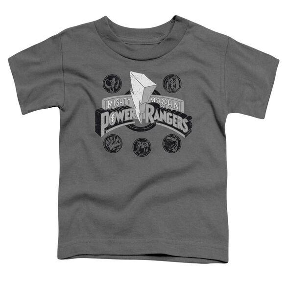 Power Rangers Power Coins Short Sleeve Toddler Tee Charcoal T-Shirt