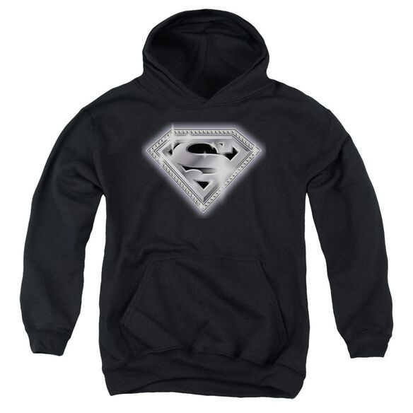 Superman Bling Shield Youth Pull Over Hoodie