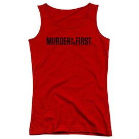 Murder In The First Logo Juniors Tank Top