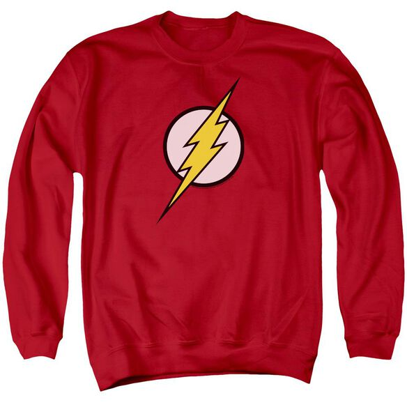 Jla Flash Logo Adult Crewneck Sweatshirt