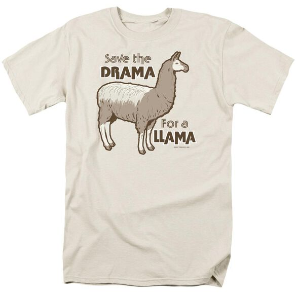 Drama Llama Short Sleeve Adult Cream T-Shirt