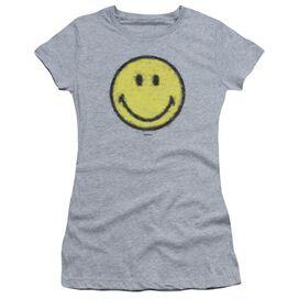 Smiley World Paper Jam Short Sleeve Junior Sheer Athletic T-Shirt