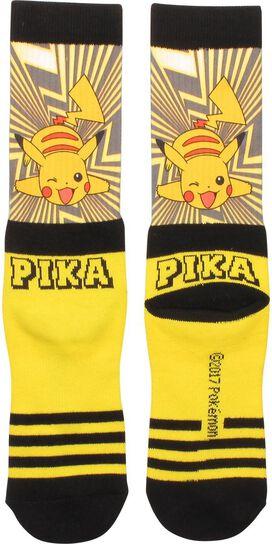 Pokemon Pikachu Wink Crew Socks