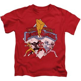 Power Rangers Retro Rangers Short Sleeve Juvenile Red T-Shirt