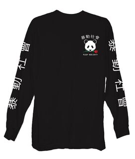 Riot Society Panda Rose Long Sleeve T-Shirt