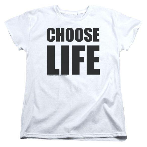 Wham Choose Life Short Sleeve Womens Tee T-Shirt
