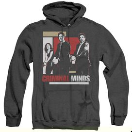 Criminal Minds Guns Drawn - Adult Heather Hoodie - Black