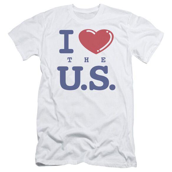 I Love The Us Short Sleeve Adult T-Shirt