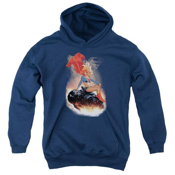 Superman Ride It Out Youth Pull Over Hoodie